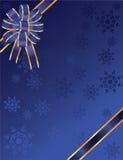 Curva azul do Natal com flocos de neve Imagens de Stock