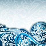 Curva blu astratta illustrazione vettoriale