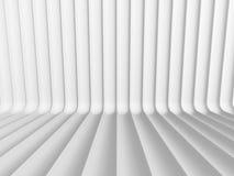 A curva branca abstrata alinha o fundo 3d Imagens de Stock