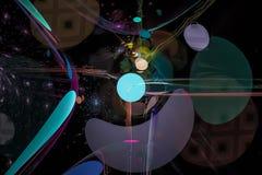 Curva brillante del fondo del diseño de la fantasía de la explosión de la llama del fractal digital abstracto libre illustration