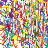A curva colorida do vetor do arco-íris abstrato alinha o fundo Foto de Stock