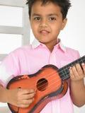 Curva com guitarra Fotos de Stock Royalty Free