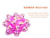 Curva cor-de-rosa da fita Fotos de Stock Royalty Free
