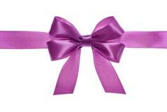 Curva cor-de-rosa da fita do cetim Fotografia de Stock