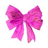 Curva cor-de-rosa do papel da amoreira no branco Imagens de Stock