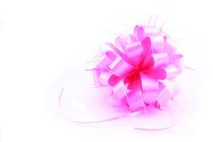 Curva cor-de-rosa do presente Foto de Stock