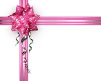 Curva cor-de-rosa em um fundo branco Fotos de Stock Royalty Free