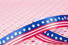 Curva da bandeira americana Fotografia de Stock Royalty Free