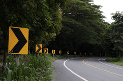 Curva da estrada Fotografia de Stock