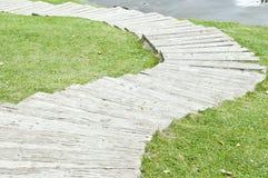 Passagem no campo de grama. Imagens de Stock