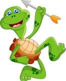 Curva da terra arrendada da tartaruga dos desenhos animados Fotografia de Stock Royalty Free