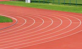 Curva da trilha running Foto de Stock