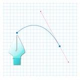 Curva de Bezier Stock de ilustración