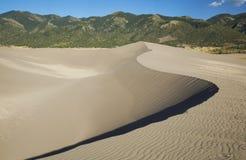 Curva de Dund de la arena Imagen de archivo libre de regalías