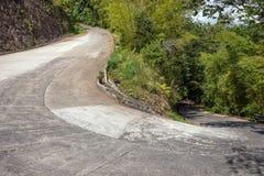curva de 180 grados del camino Fotografía de archivo libre de regalías