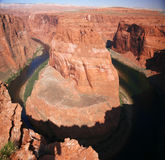Curva de herradura, Arizona Foto de archivo