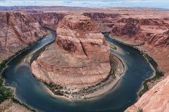 Curva de herradura con el río Colorado Página, az Foto de archivo libre de regalías