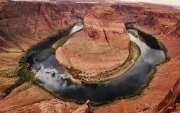 Curva de herradura del río Colorado en la paginación Arizona Imágenes de archivo libres de regalías