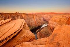 Curva de herradura del río de Colorado Foto de archivo libre de regalías