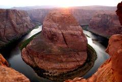 Curva de herradura el río Colorado fotos de archivo