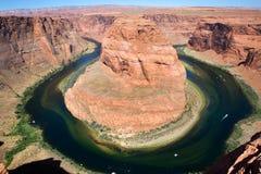 Curva de herradura el río Colorado Foto de archivo
