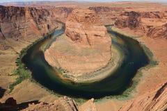 Curva de herradura en Arizona Imagen de archivo