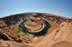 Curva de herradura en Arizona Fotografía de archivo libre de regalías
