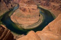 Curva de herradura en Arizona en Estados Unidos Fotos de archivo libres de regalías