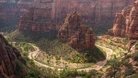 Curva de herradura en el parque nacional de Zion Foto de archivo libre de regalías