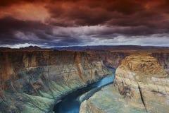 Curva de herradura en el río de Colorado Imagen de archivo