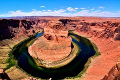 Curva de herradura en la paginación, Arizona Fotografía de archivo
