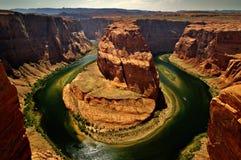 Curva de herradura, paginación, Arizona Foto de archivo libre de regalías