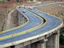 Curva de la carretera Foto de archivo libre de regalías