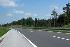 Curva de la carretera Imagen de archivo libre de regalías
