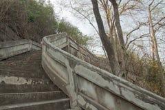 Curva de la escalera para arriba Fotografía de archivo