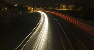 Curva de la noche Fotos de archivo