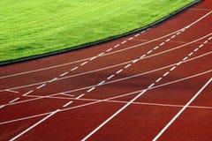 Curva de la pista de raza Fotos de archivo