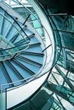Curva de las escaleras Imágenes de archivo libres de regalías