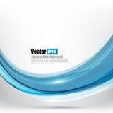 A curva de Ligth do fundo abstrato e o elemento azuis da onda vector o mal Imagens de Stock Royalty Free