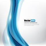 A curva de Ligth do fundo abstrato e o elemento azuis da onda vector o mal Imagens de Stock