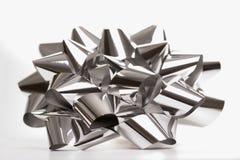 Curva de prata do Natal. imagens de stock