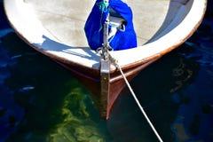 Curva de um bote da navigação Foto de Stock Royalty Free