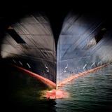 Curva de um grande navio Imagem de Stock