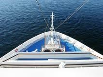 Curva de um navio de cruzeiros Foto de Stock