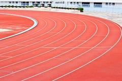 Curva de uma trilha Running Imagens de Stock