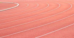 Curva de una pista corriente Imagen de archivo
