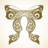 Curva decorativa decorativa do vintage Imagens de Stock