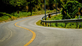 Curva del camino Fotografía de archivo
