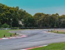 Curva del circuito de carreras Imagen de archivo libre de regalías