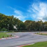 Curva del circuito de carreras Fotografía de archivo